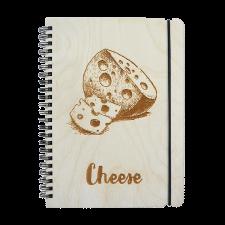 Блокнот с деревянной обложкой Cheese